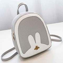 Female fashionable south Korean version of fashion joker female bag leisure walk students bag White with grey 1 a