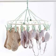 Air socks cool hangers multi-clip disc home underwear baby multi-function hook clothespin Green tea 16 clip 1 a