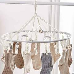 Air socks cool hangers multi-clip disc home underwear baby multi-function hook clothespin Coffee color 18 clip 1 a