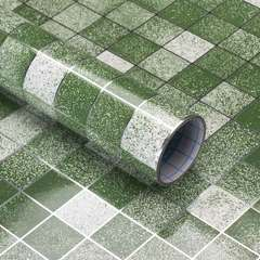 Endure high temperature kitchen ceramic tile to stick easy to swab Mosaic wall to stick Grass green 2 meters