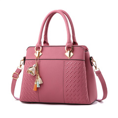 Fashion high-end ladies bag new women's bag European and American fashion handbag shoulder bag Red wine 31*14*23 cm 31 cm 31*14*23 cm 23 cm