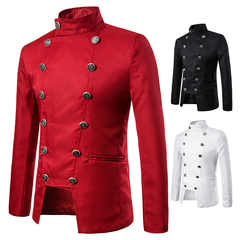 New daily performance dress nightclub men's clothing hosted ceremonial photo studio coat suit red s