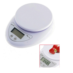 Multifunction Electronic Kitchen and Nutrition Digital Food Scale (5kg X 1g) wHITE B05 white B05