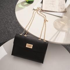 Fashion Simple Small Square Bag Women's Designer Handbag PU Leather Chain Mobile Phone Shoulder bags black 18.0 cm * 6.0 cm * 13.0 cm