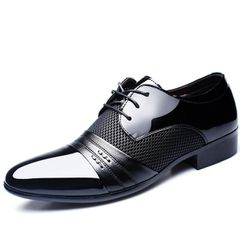 38-48 mens formal shoes business comfortable Stylish Gentleman's formal shoes men Black 2 38