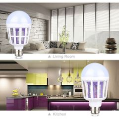 LED Mosquito Killer Bulb For Home Lighting Bug Zapper Trap Lamp Insect Anti Mosquito Repeller Light White one size 8-10w