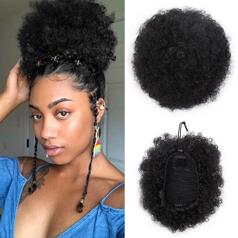 Synthetic Puff Afro Short Kinky Curly Chignon