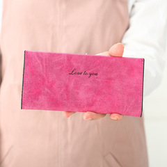 2019 Fashion Wallet Women's Long Purse Candy Color Wallets PU Card Holders hot pink one size