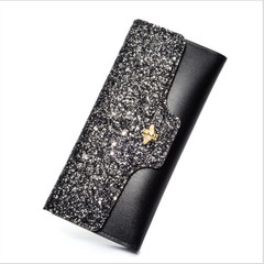Fashion Women Evening Party Clutch Bag Sequins Sparkling Bling Wallet Purse Bag Sequins Wallet black one size
