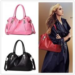 New Women's bag classic casual fashion soft bag female sling shoulder bag black 14.56''*6.29''*9.05''