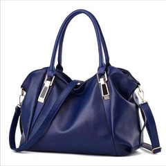 New Women's bag classic casual fashion soft bag female sling shoulder bag blue 14.56''*6.29''*9.05''