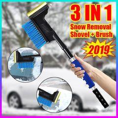 Long Handle Ice Scraper Window Snow Squeegee Blade Car retractable snow shovel Bule 11*58*15cm