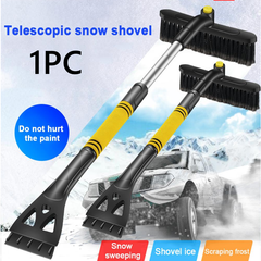 Car Snow Removal Shovel Retractable Snow Brush Scraping  Winter Ice Removal Tool black 240*110*640mm