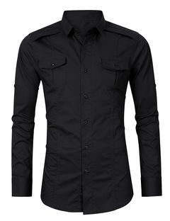 New Fashion Casual Shirts Black S
