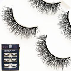 False Eyelashes 3D Lashes Pack Fluffy Long Lashes Reusable Eyelashes 3 Pairs black