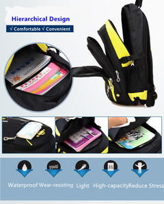 Fashion Pupil Backpacks for Book and Laptop Large Capacity Computer Bag School Bagpacks yellow one size