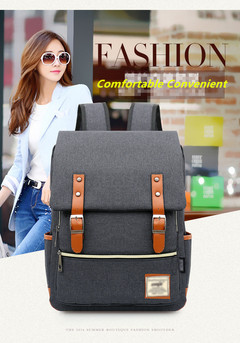 Fashion Men Daily Canvas Backpacks for Laptop Large Capacity Computer Bag Casual School Bagpacks Wine red One Size