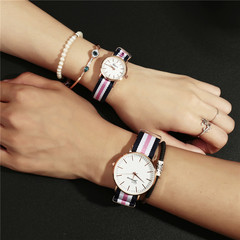 Geneva Ultra-Thin Nylon Canvas Band  Men And Women Watch Fashion Gift Watches type 1  women