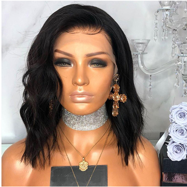 Limited Discount  Natural Black Wig Lady Short Black Curly Wigs Hair Wigs For Women black one size