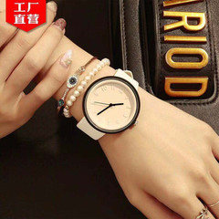 Dimensional Digital Women  Watch Fashion  Students Canvas Women Watch Creative Women Quartz Watch white
