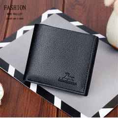 Valentine's day Birthday Gift Short Wallet For Men Black  Brown Wallet For Money Or Card black normal