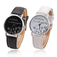 Special Design Watches Whatever I'm Late Anyway Fashion Quartz Watches black dial black band