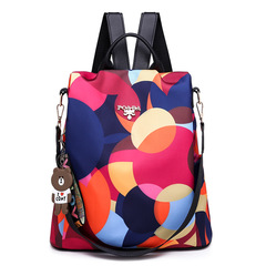 Fashion Anti-theft Women Backpacks Famous Start Style Waterproof Oxford Women Backpacks contrast color one size