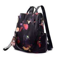 Printing backpack women travel bag anti theft causal fashion backpack Oxford bagpack Sakura printing one size