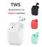 I12 TWS wireless bluetooth 5.0 portable stereo earphone with charging box mini auto pairing  headset white