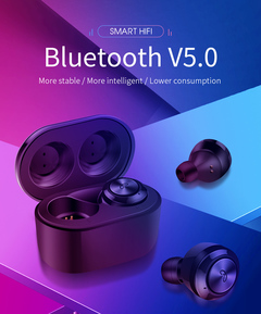 TWS wireless bluetooth 5.0 portable earbuds stereo earphone with charging box auto pairing  headset white