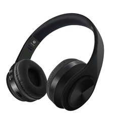 Wireless Headset  Bluetooth 5.0 Headphone Adjustable  on-ear Earphones Stereo Bass earbuds With Mic black