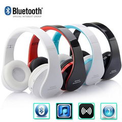 Wireless Headset  Bluetooth 5.0 Headphone Adjustable  Earphones Stereo Bass earbuds With Microphone white