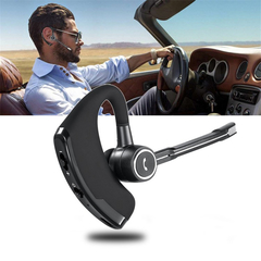 Business CSR Bluetooth single earphone Headset Wireless Stereo Hands-free with microphone Headphone black