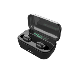 TWS 5.0 Bluetooth Earphones Wireless Earbuds Touch 2200mah Headset  Bass with LED power display white