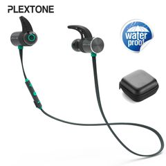 Plextone BX343  Sport Bluetooth Earphone Wireless Waterproof Over-neck Eearbuds With Microphone black