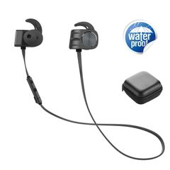 Plextone BX338  Sport Bluetooth Earphones Wireless Waterproof Over-neck Eearbuds With Microphone black