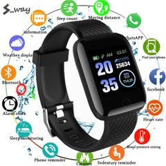 116 PLUS smart bracelet smart watch color screen IP67 waterproof  wireless Bluetooth sports watch Red