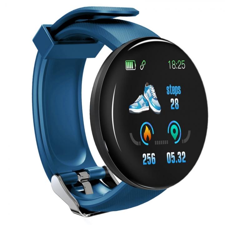 Bluetooth Smart Watch Men Women Waterproof Sleep Heart Rate Tracker Sports Smartwatch Blood Oxygen blue