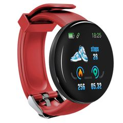 Bluetooth Smart Watch Men Women Waterproof Sleep Heart Rate Tracker Sports Smartwatch Blood Oxygen red