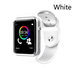 Smart Watch A1 Bluetooth Wrist Watch Sport Pedometer With SIM Camera SmartWatch Waterproof white
