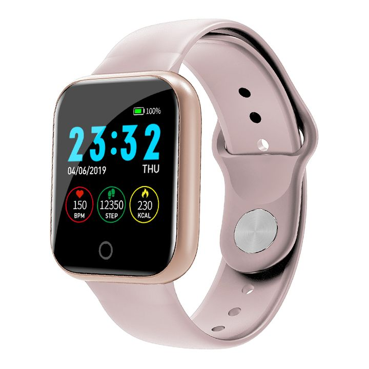 Smart Watch Pedometer Music Control Multiple Dials Heart Rate Fitness Smartwatch  For Android IOS pink