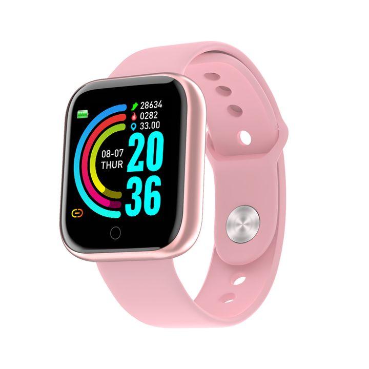 Smart watch IPS screen fitness bracelet blood pressure heart rate IP68 waterproof sport smartwatch pink
