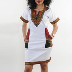 2019 Summer Sexy dress Print Shirt Dresses Femme Vintage Mini hippie Plus Size Boho Dresses white s