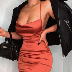 2019 New lady sexy strapless strap fashion high-elastic halter dress 01 s