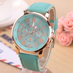 Geneva fake three-eye belt  watch women fashion electronic watch 13