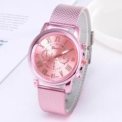Geneva watch three-eye double-layer soft belt quartz watch fashion women  watch 01