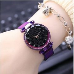 New women diamond star watch magnet buckle student watch clothes accessories 01
