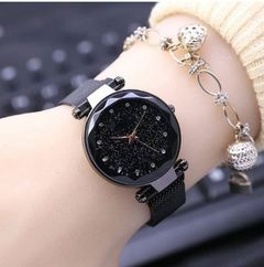 New women diamond star watch magnet buckle student watch clothes accessories 02