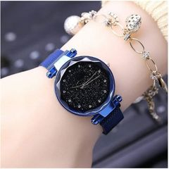 New women diamond star watch magnet buckle student watch clothes accessories 03