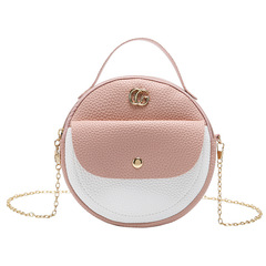 Lady Small Round Bag Crossbody Purse Handbag Girl Bag Studendts Shoulder Bag 01 all code